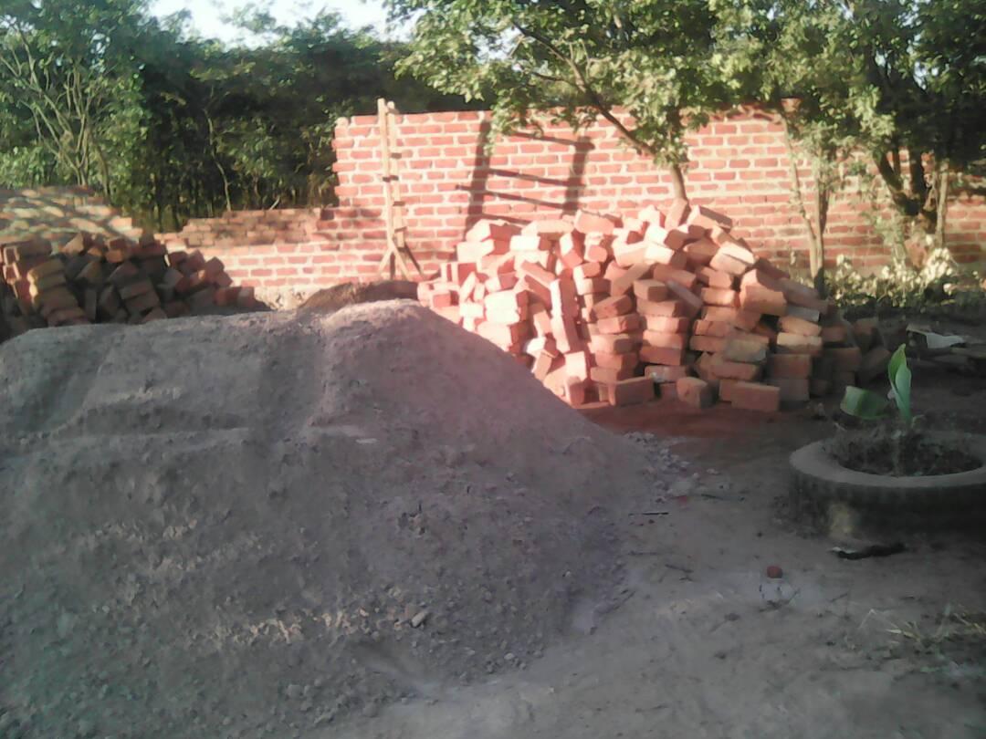 Ziegelsteine für die Mauern