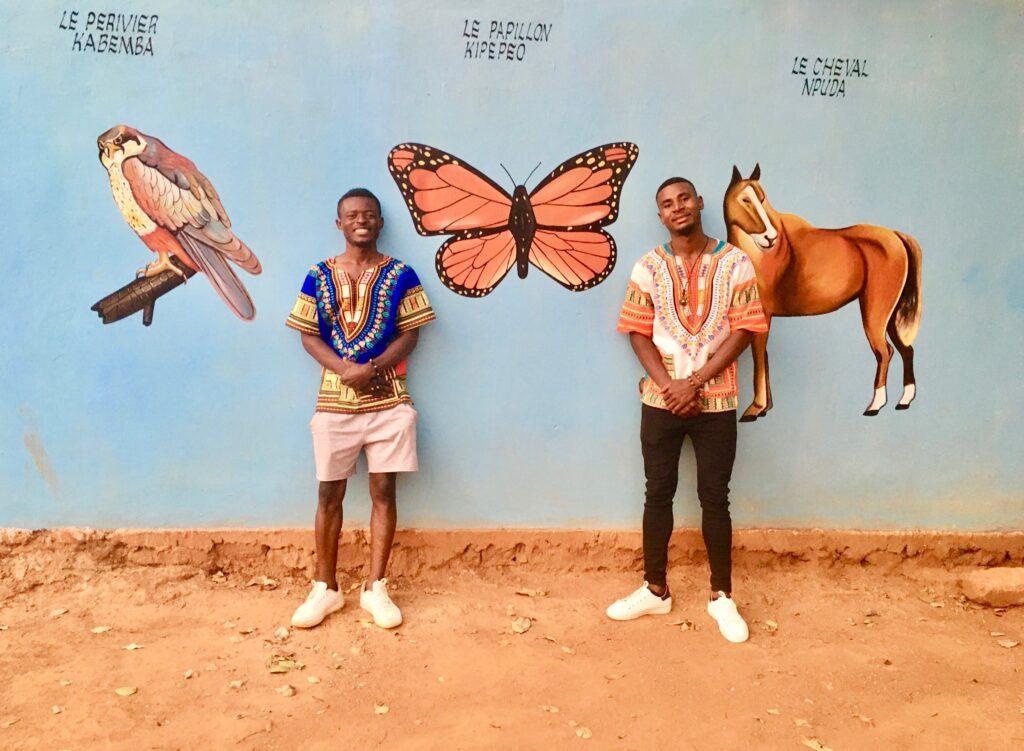 Wandkunst im Village Mutoto
